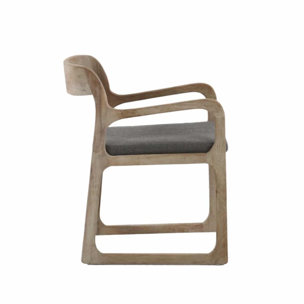 teak chair with cushion - emily