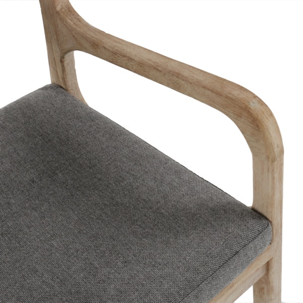 teak arm chair with cushion - emily