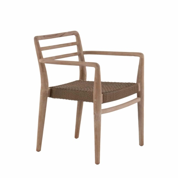 Joan Wicker And Teak Stackable Dining Chair Design Warehouse Nz