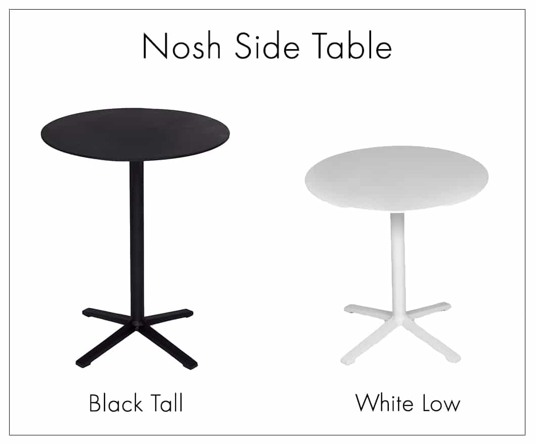 Nosh aluminium side table in black