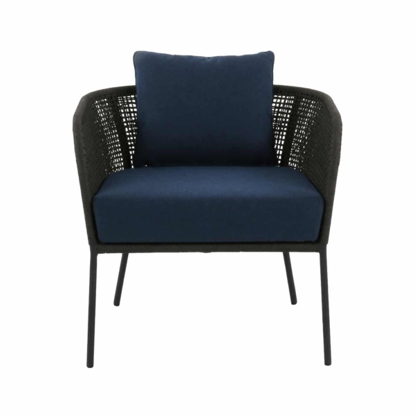 blue and gray relaxing chair - scottie
