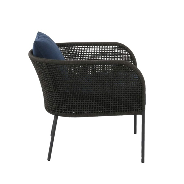 black and blue outdoor chair