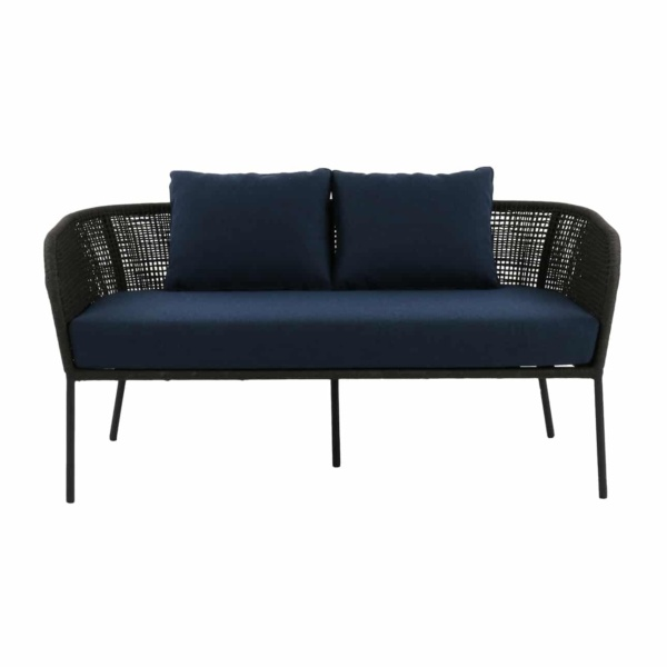 dark gray and navy sofa - scottie
