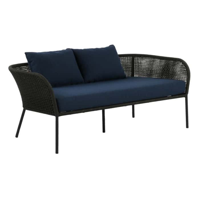 Scottie Sofa with blue cushions