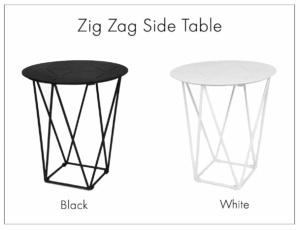 zig zag aluminium tables