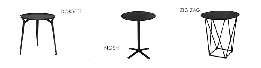 aluminium side tables