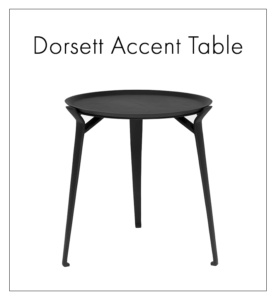 Dorsett black side table - aluminium