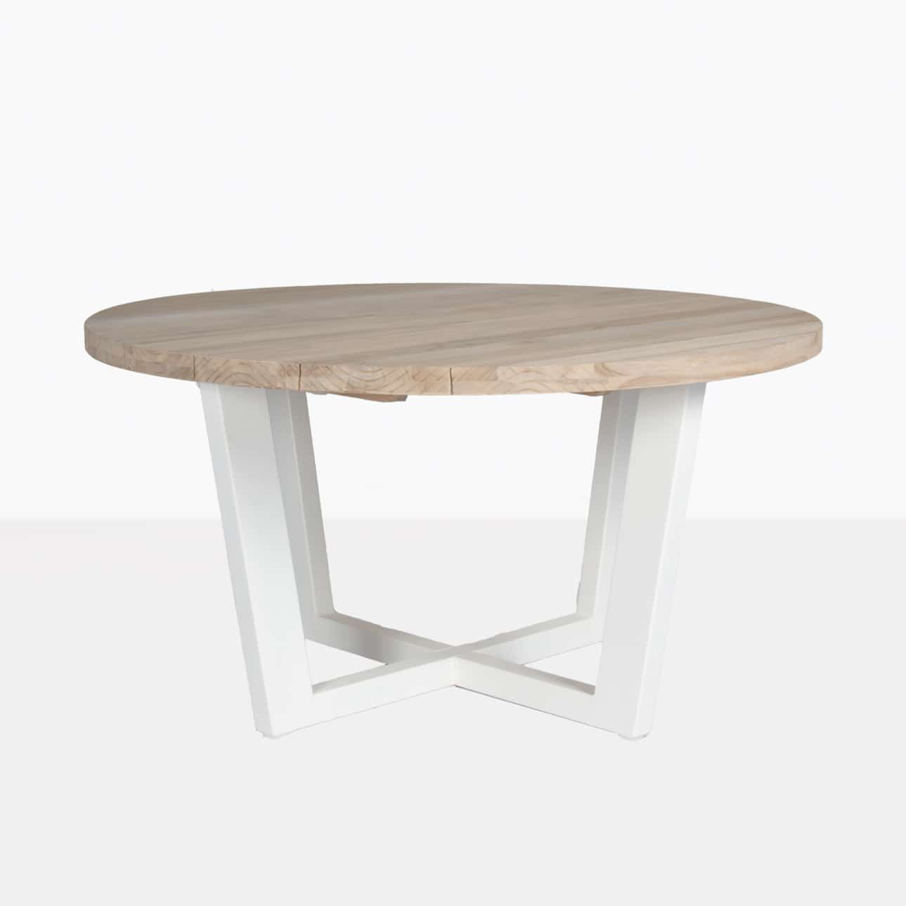 Jimmy White Outdoor Round Reclaimed Teak Dining Table   Design ...