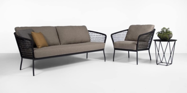 outdoor rope sofa and chair set