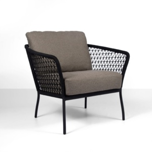 Lola Outdoor Club Chair in Black