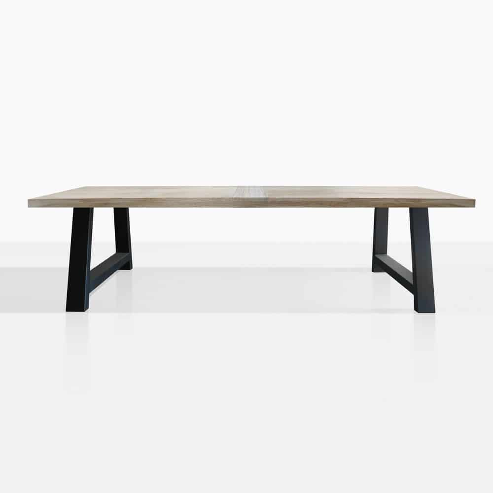Santa Fe Teak And Aluminium Outdoor Dining Table Black