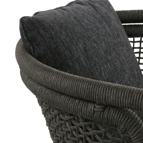 charcoal gray rope club chair - butterfly