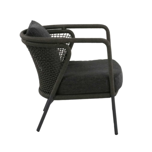 charcoal gray relaxing chair - butterfly