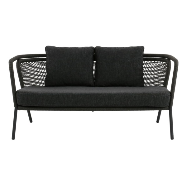 charcoal grey sofa - butterfly