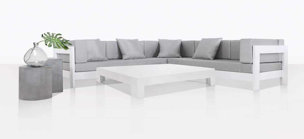 amalfi aluminium deep seating collection white