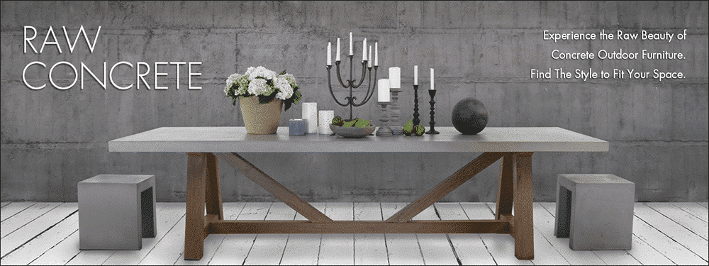 Outdoor Concrete Furniture and Decor