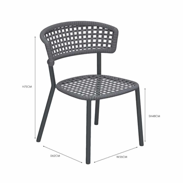 Kove dining chair coal