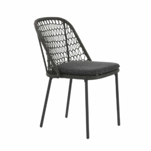 dark rope patio chair - mel