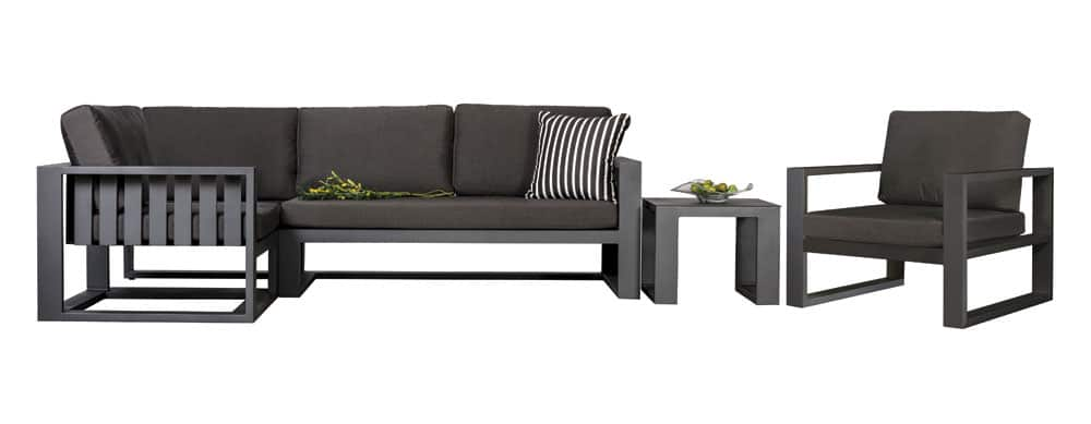 Mykonos Aluminium Modular Sofa And Club Chair