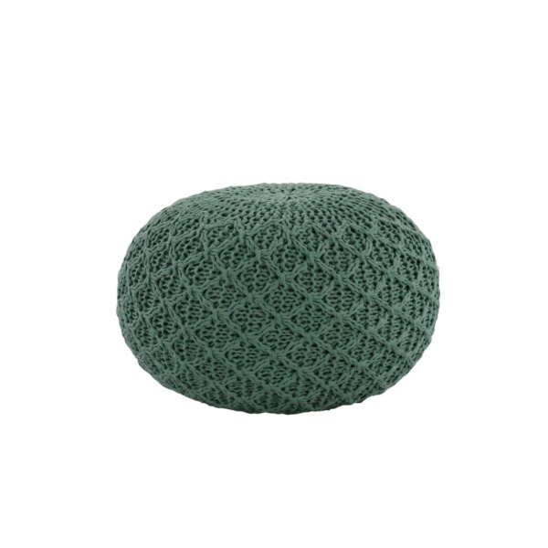 Studio Three Small Round Pouf Aqua