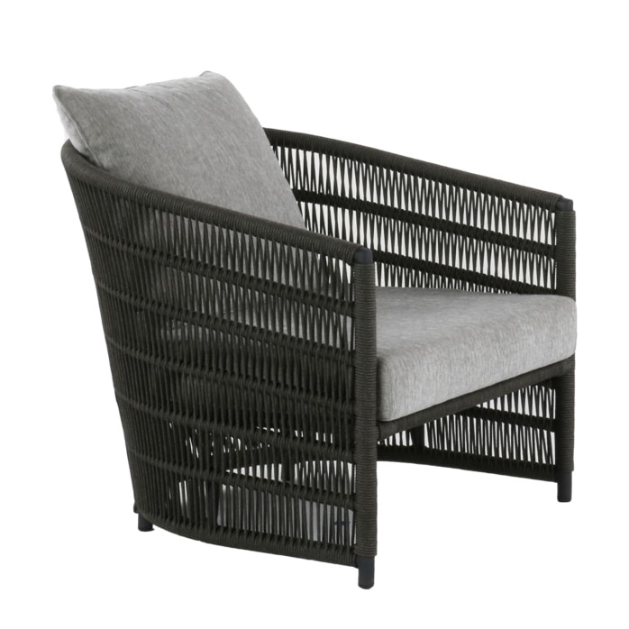 dark gray and light gray relaxing chair - Tammy