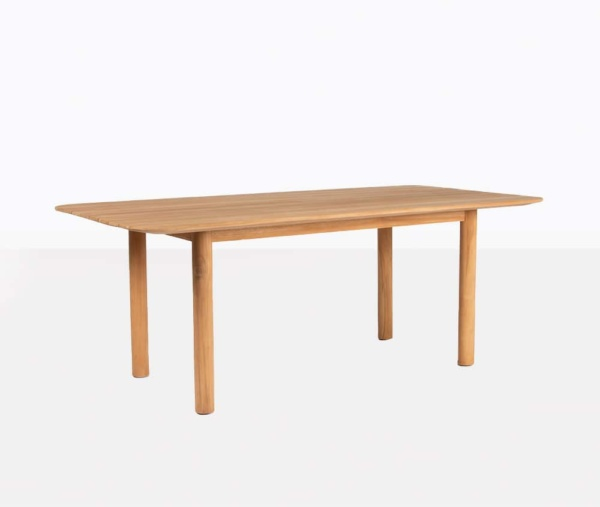 Tradition Outdoor Teak Dining Table Angle View