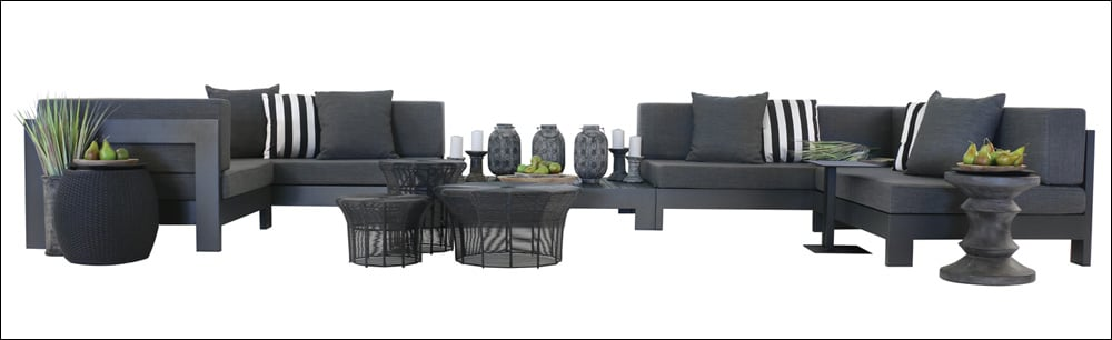 Amalfi Aluminium Black Outdoor Furniture Collection