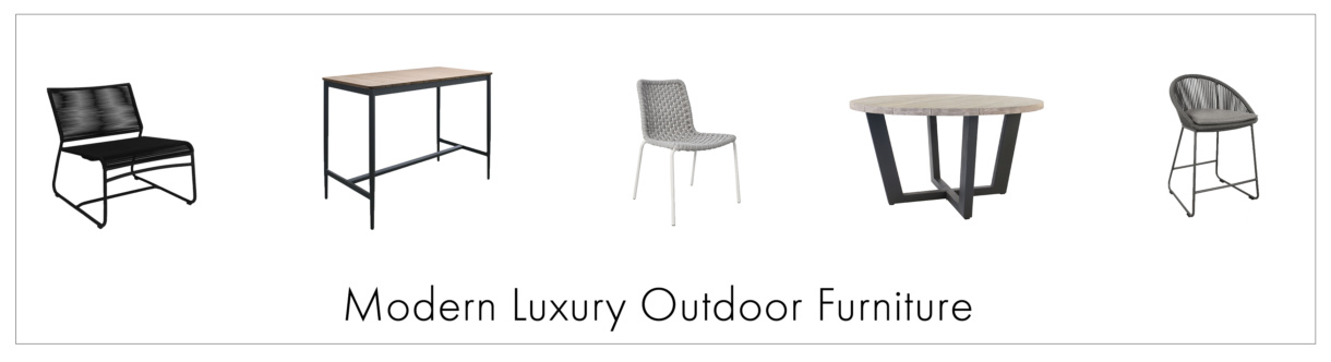 Modern Luxury Outdoor Furniture