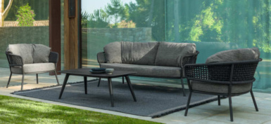 Kove Outdoor Rope and Aluminium Collection Coal Colour