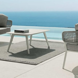 kove aluminium and rope collection in white