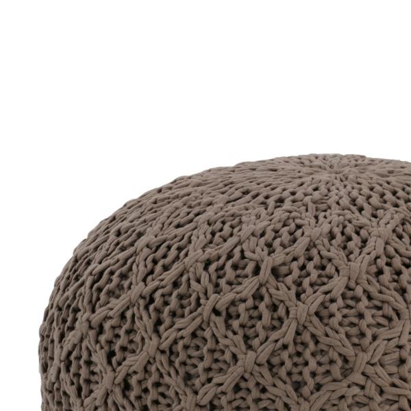 pouf weave close