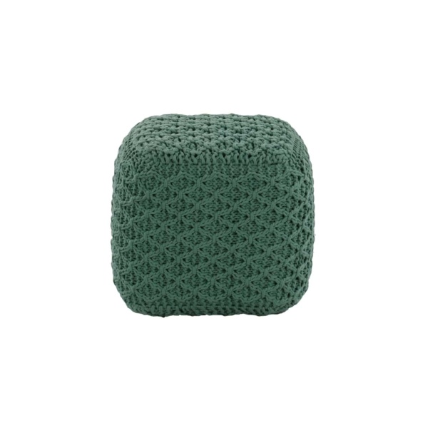 Studio Three Small Square Pouf Auqua