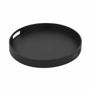 Handi Large Outdoor Aluminum Round Tray (Charcoal)