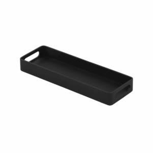 Handi Outdoor Aluminum Rectangle Tray in Charcoal