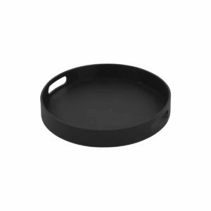 Handi Small Outdoor Aluminum Round Tray (Charcoal)