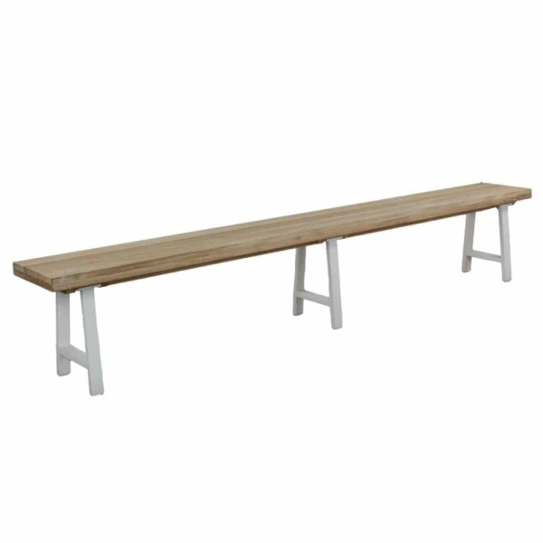 santa fe outdoor bench nz in white angle view