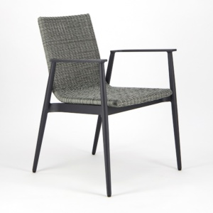 Baltic Outdoor Wicker Dining Arm Chair - Angle View