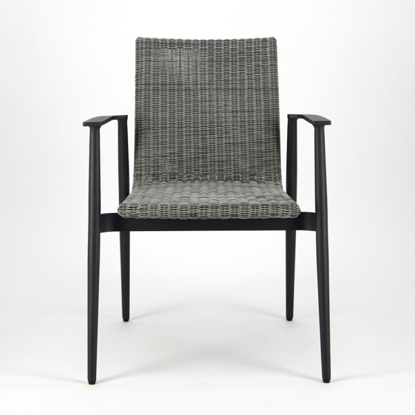 Baltic Outdoor Wicker Dining Arm Chair - Front View