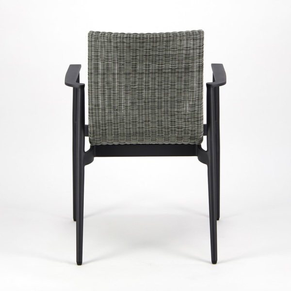 Baltic Outdoor Wicker Dining Arm Chair - Rear View
