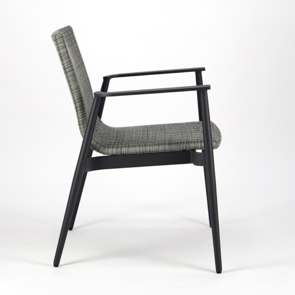 Baltic Outdoor Wicker Dining Arm Chair - Side View