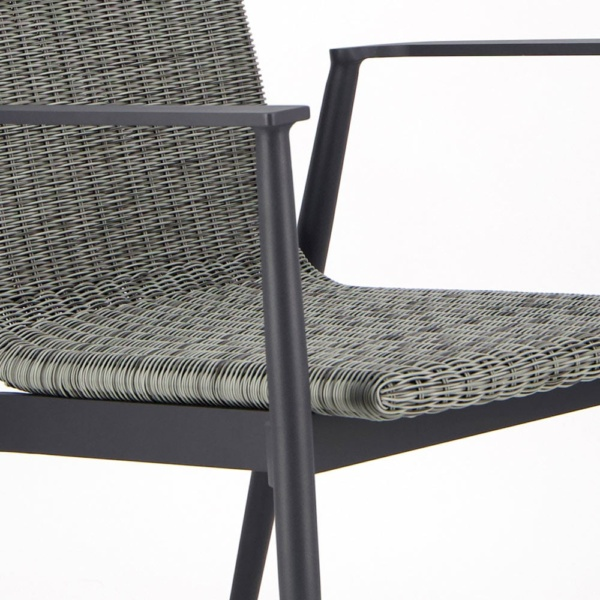 Baltic Outdoor Wicker Dining Arm Chair - Closeup View