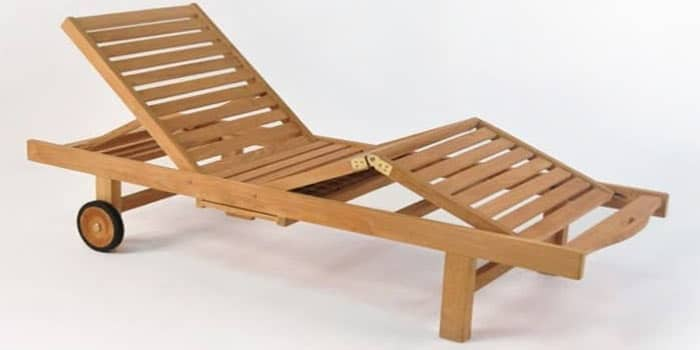 Malibu Teak Outdoor Sun Lounger