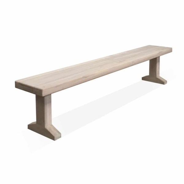 Sherman Reclaimed Teak Outdoor Bench 230 cm Angle View