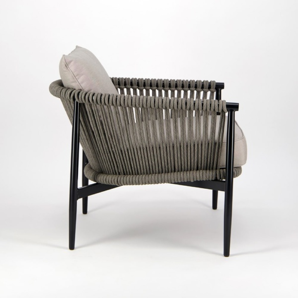Archi Outdoor Rope Relaxing Chair - Side View