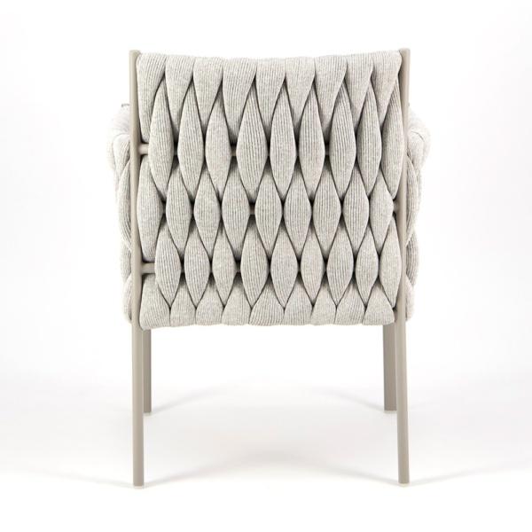 Calvin Dining Arm Chair Grey - Rear View