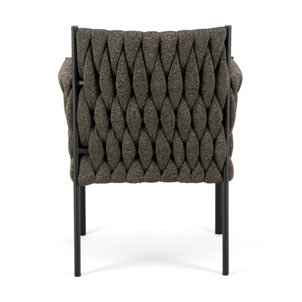 Calvin Outdoor Dining Chair Coal - Back View