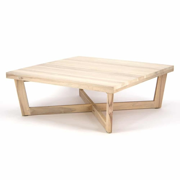 Coco Reclaimed Teak Square Coffee Table - Angle View