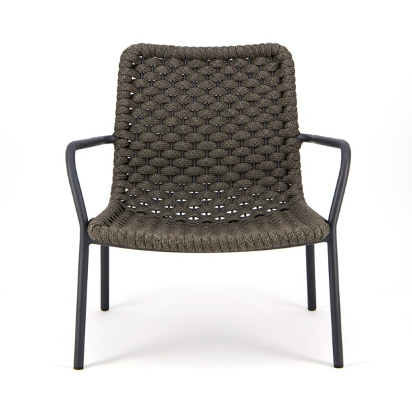 Dennis Outdoor Relaxing Chair Charcoal - Front View