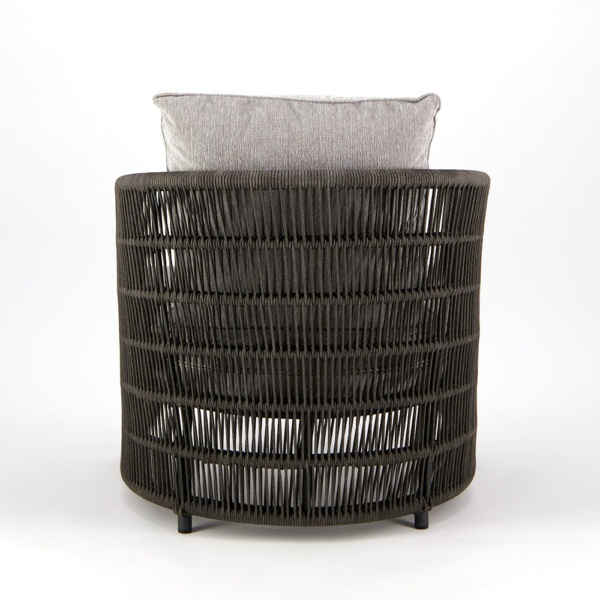 Tammy Outdoor Rope Relaxing Chair Charcoal - Rear View