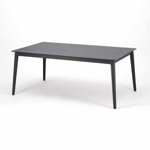 Washington Aluminum Outdoor Coffee Table Charcoal - Angle View